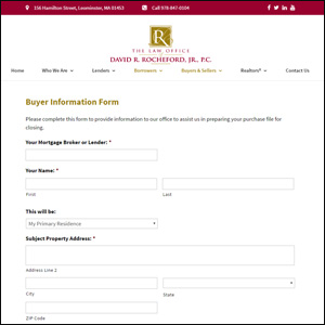 The Law Office of David Rocheford Buyer Form
